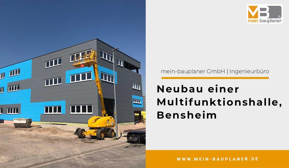 Neubau einer Multifunktionshalle in Bensheim 1