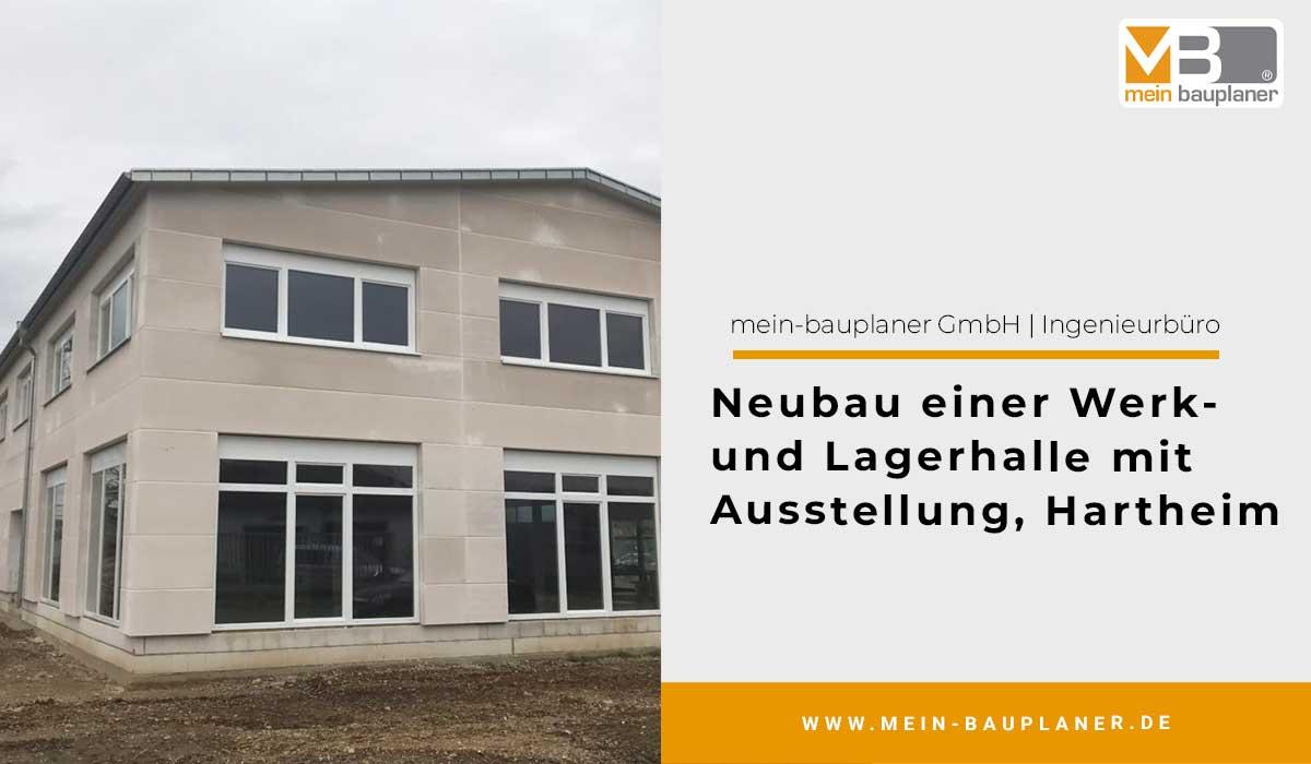 Neubau einer Werk- und Lagerhalle mit Ausstellung in Hartheim 1