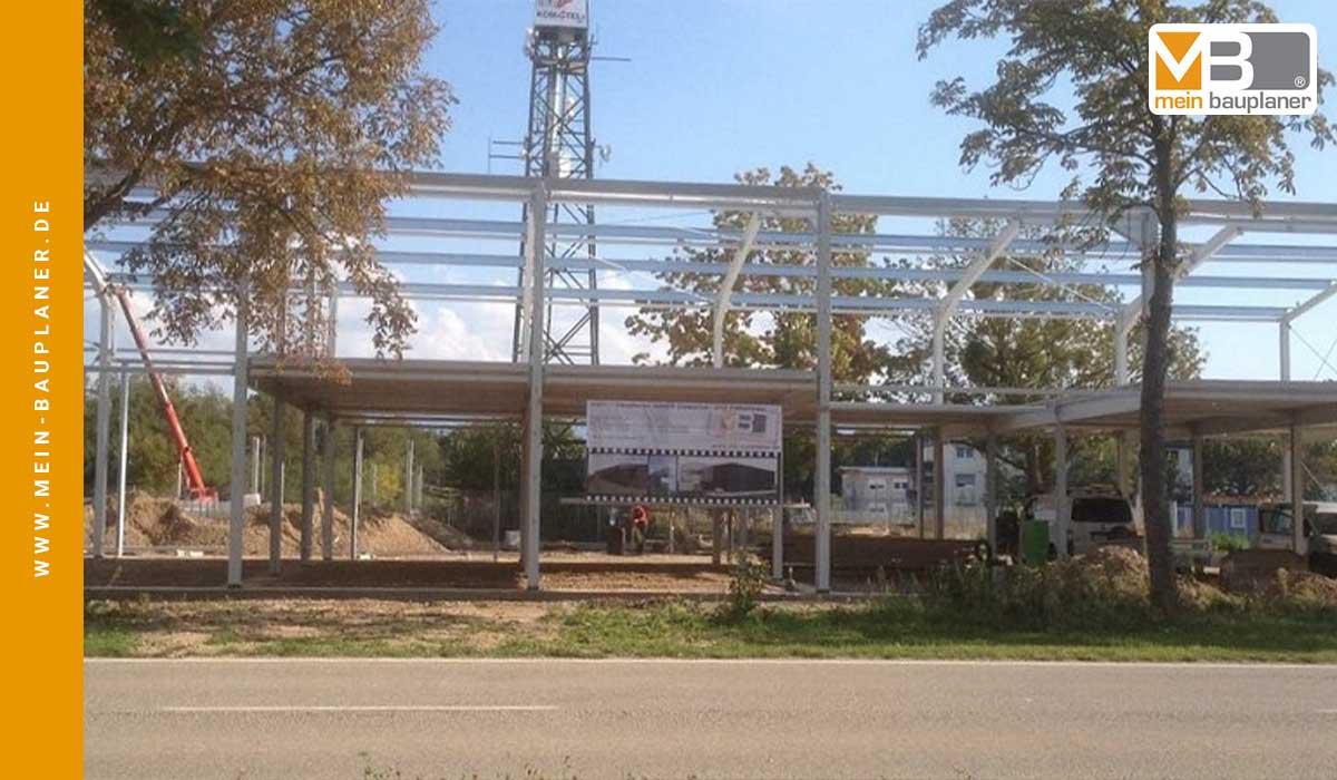 Neubau einer Werk- und Lagerhalle mit Ausstellung in Hartheim 3