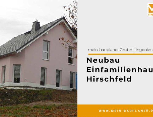 Neubau Einfamilienhaus, Hirschfeld