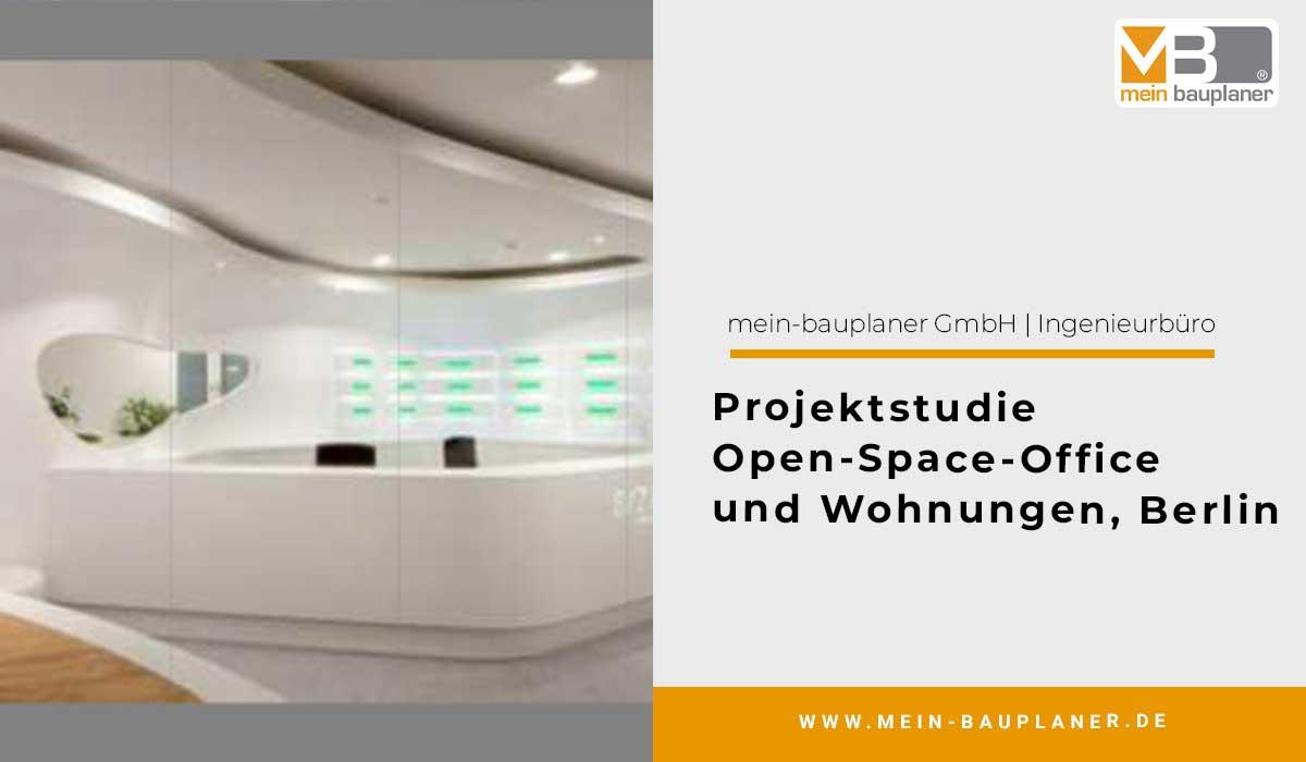 Projektstudie Open-Space-Office und Wohnungen, Berlin 1