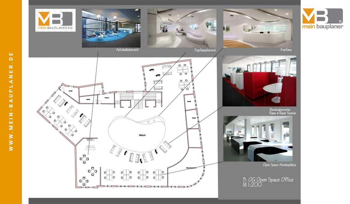 Projektstudie Open-Space-Office und Wohnungen, Berlin 3