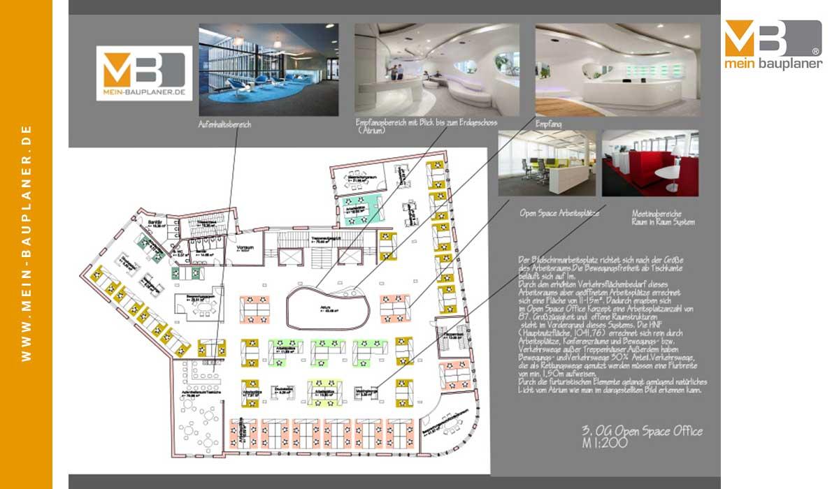 Projektstudie Open-Space-Office und Wohnungen, Berlin 4
