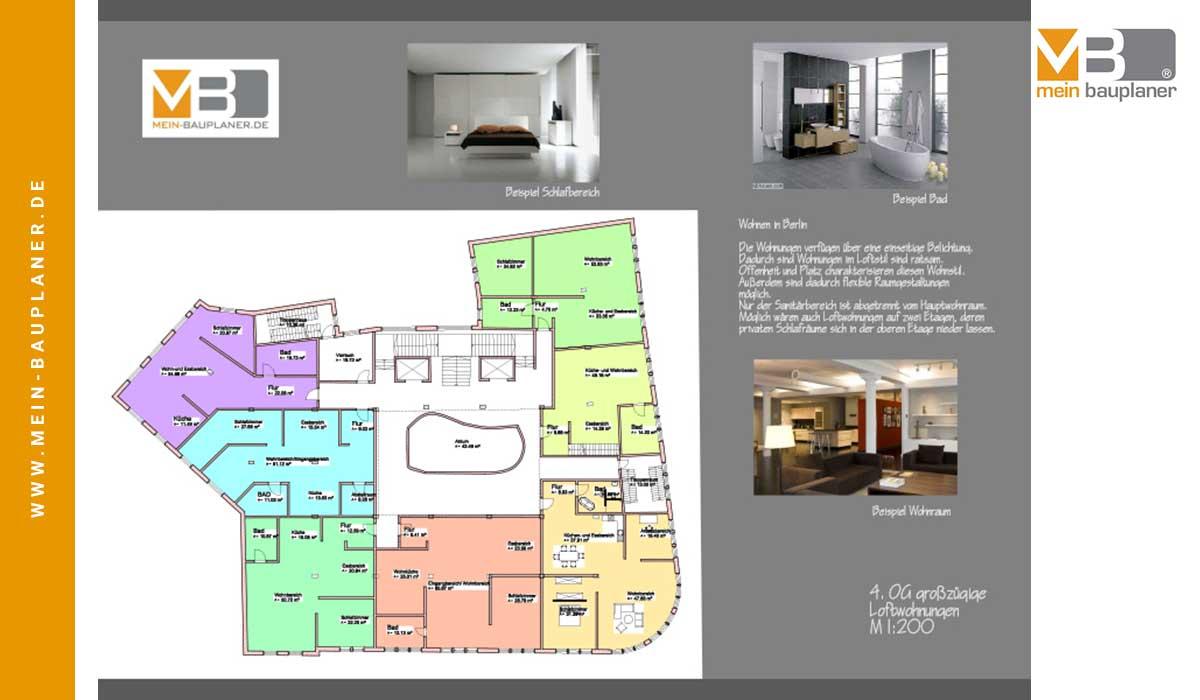 Projektstudie Open-Space-Office und Wohnungen, Berlin 5