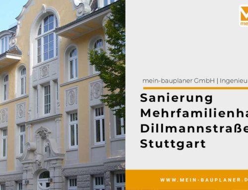 Sanierung Mehrfamilienhaus Dillmannstraße in Stuttgart