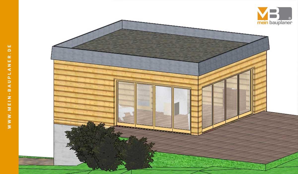 Vorplanung zweigeschossiges Saunahaus 2