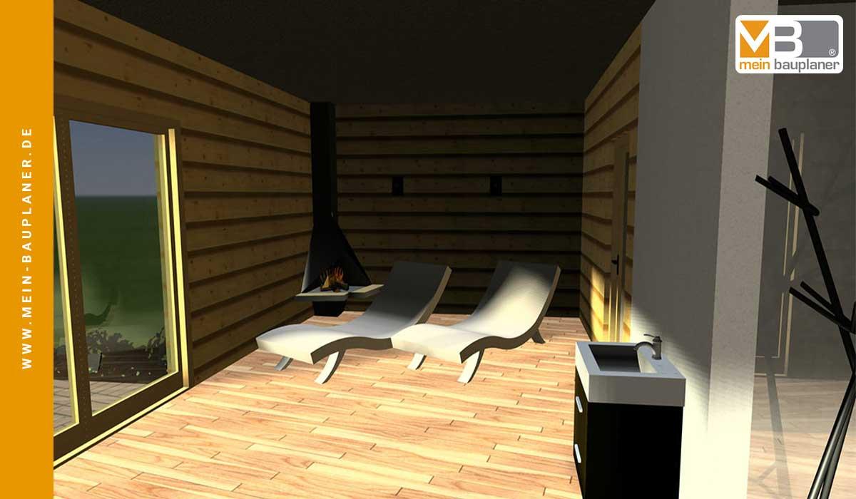 Vorplanung zweigeschossiges Saunahaus 5