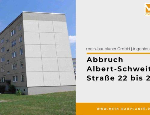 Abbruch Albert-Schweitzer-Straße 22 bis 28