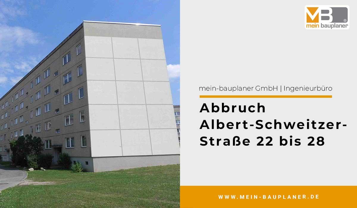 Abbruch Albert-Schweitzer-Straße 22 bis 28 1