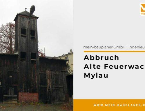 Abbruch alte Feuerwache in Mylau