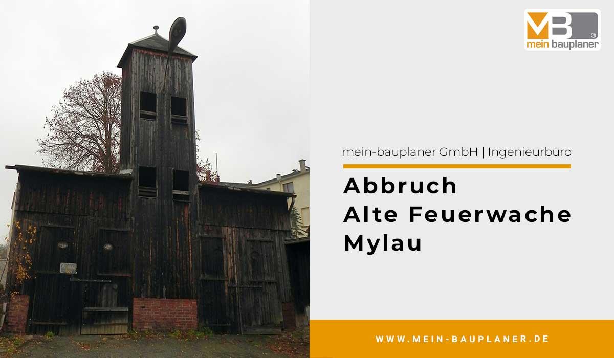 Abbruch Alte Feuerwache in Mylau 1